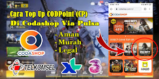 Cara Top Up CP Call of Duty Mobile Di Codashop Via Potong Pulsa