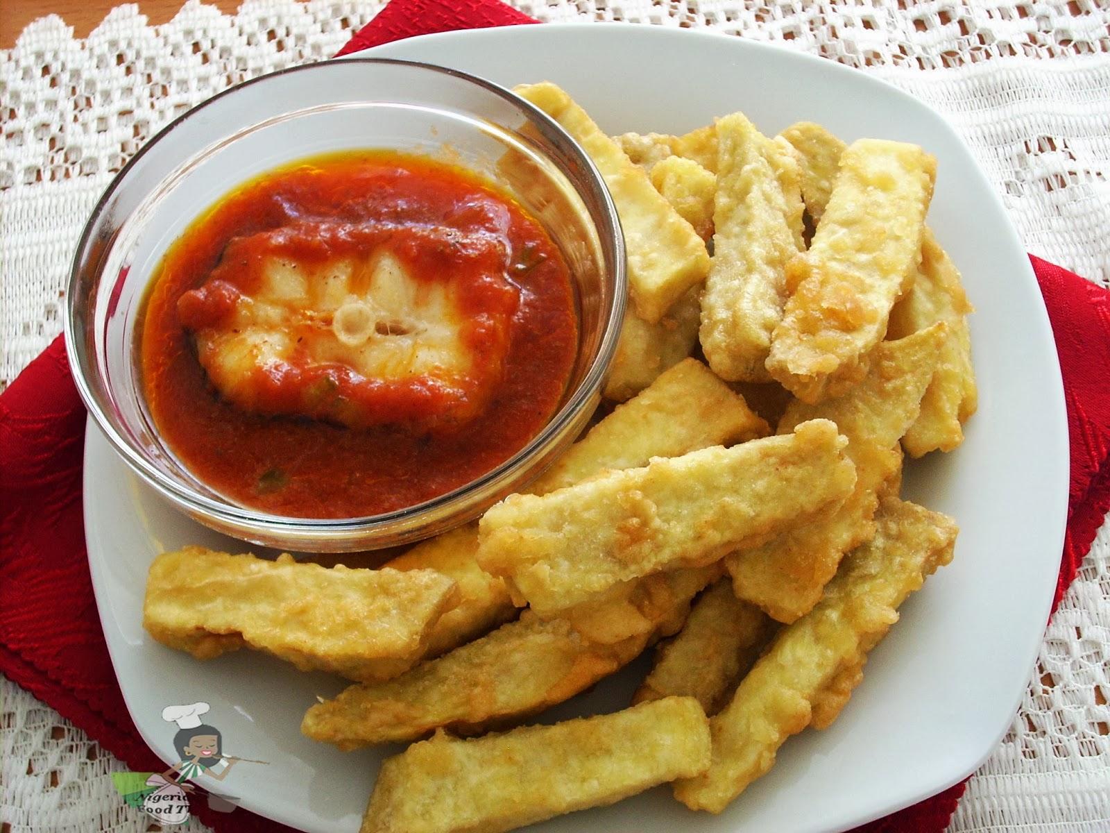 Dun Dun Oniyeri (Egg Coated Yam Fries