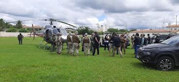 Buscas por preso que matou escrivão em delegacia estão concentradas em mata, com uso de drones e aeronaves em Tauá