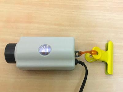 水作水心3Sに輪ゴムを取り付け吊るす