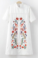 embroidery, embroidered dress, white dress