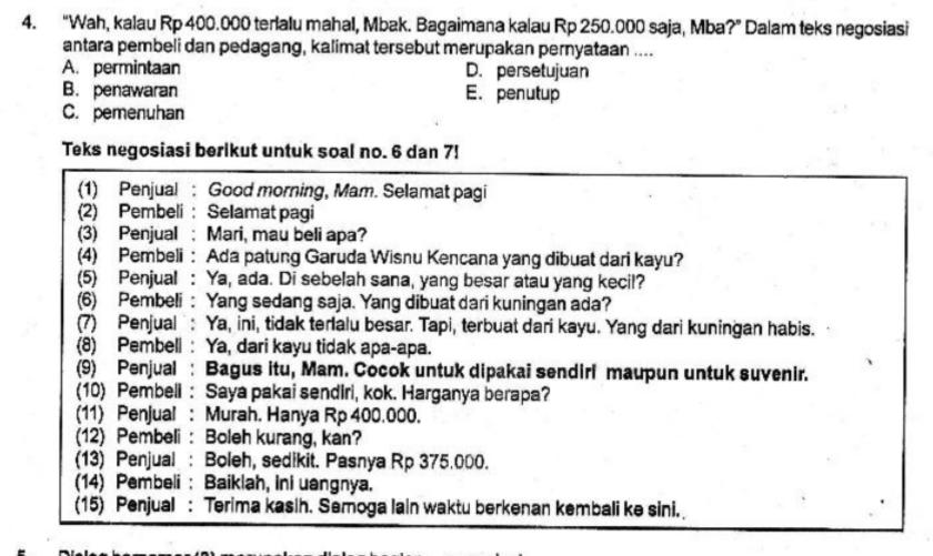 gambar soal pat bahasa indonesia kelas 10