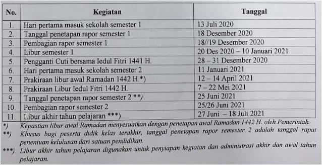 kalender pendidikan jawa barat 2020-2021