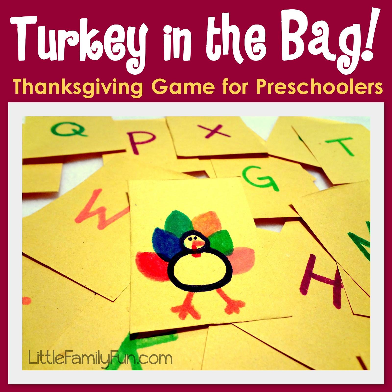 Little Family Fun Turkey In The Bag