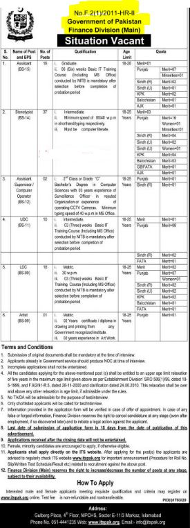 Finance Division Jobs 2020 Apply Online