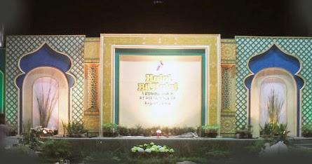 35+ dekorasi panggung halal bihalal sederhana untuk