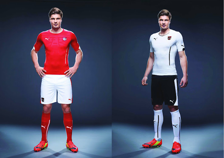 buy popular 16041 74526 Austria 2014 Home and Away Kits Released - Footy Headlines