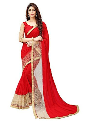 Red saree for karva chauth