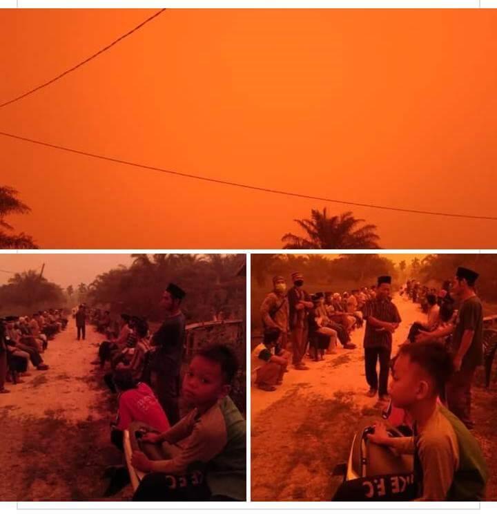 indonesia haze, red sky