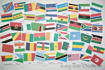 Flags of Africa Cards (Free Printable)
