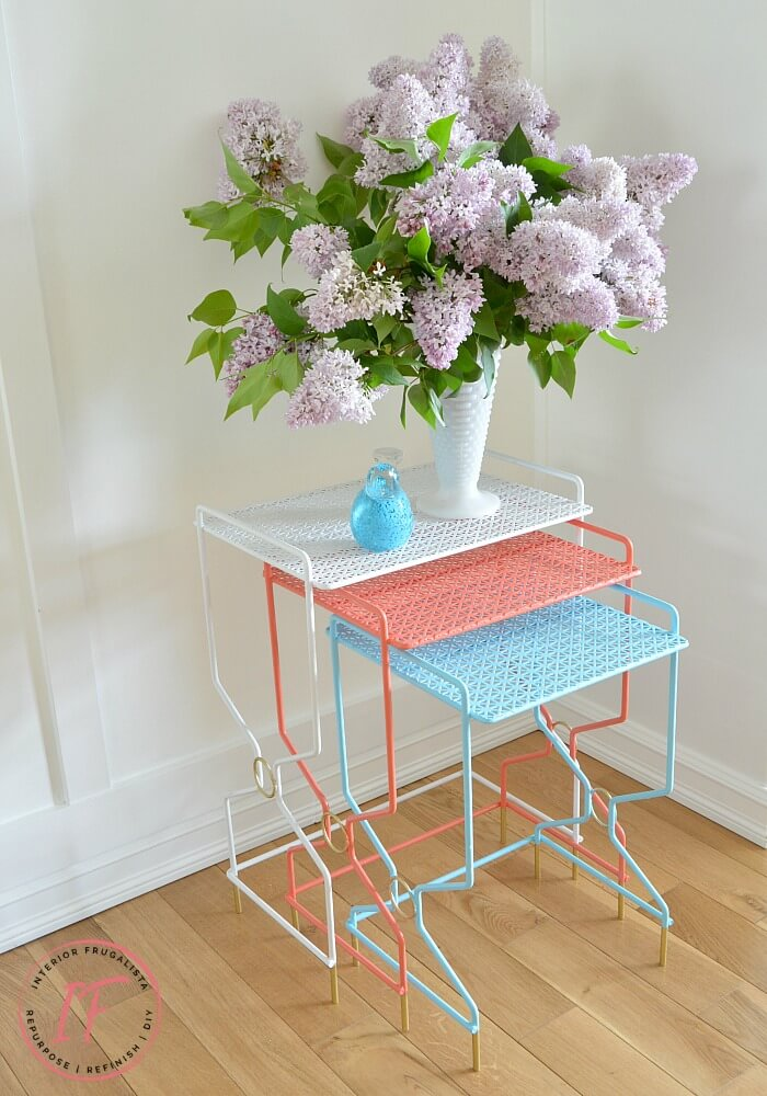 Colorful Metal Nesting Tables