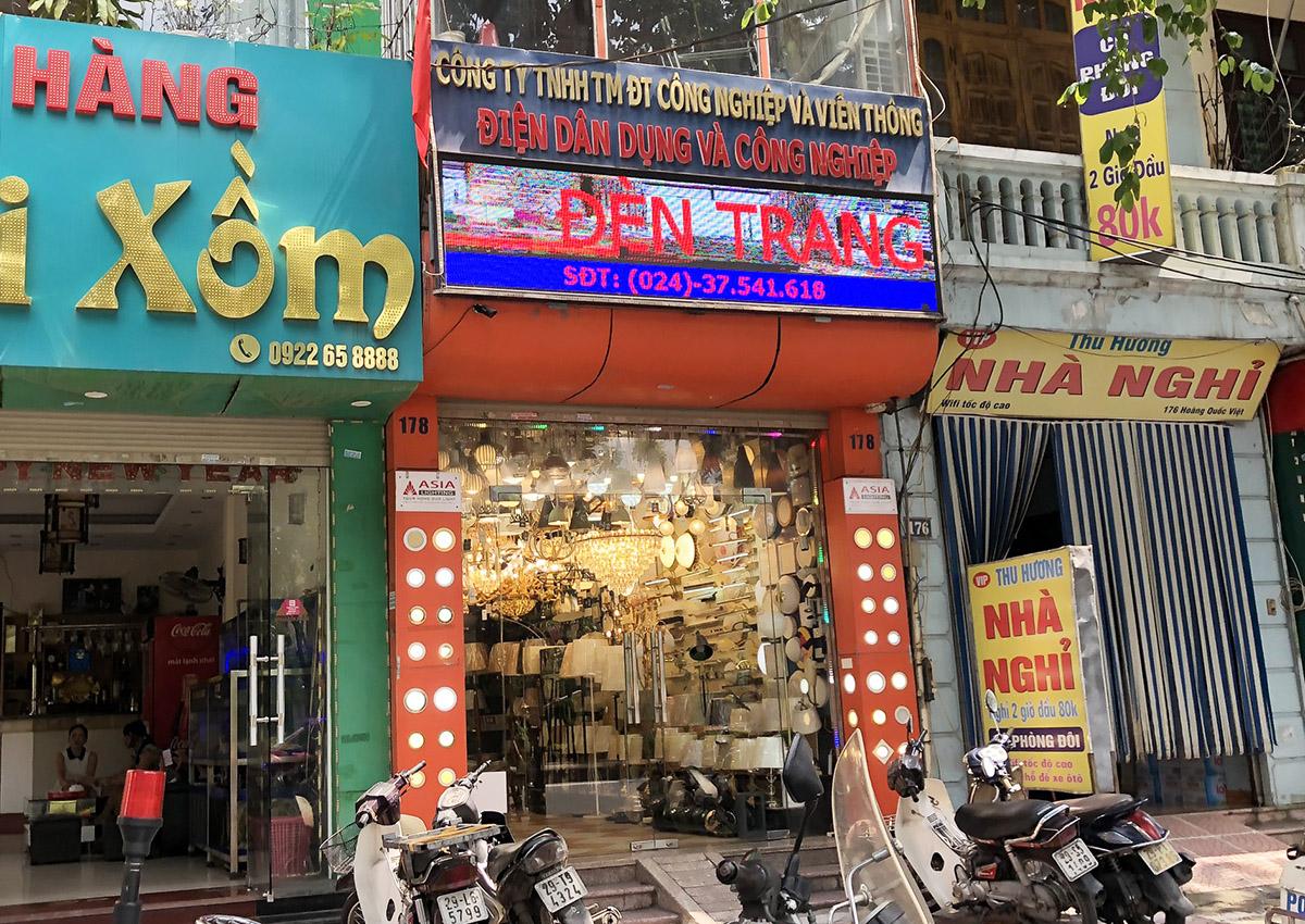 Cửa hàng bán đèn trang trí, chiếu sáng ở 178 Hoàng Quốc Việt