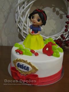 disney branca de neve bolo