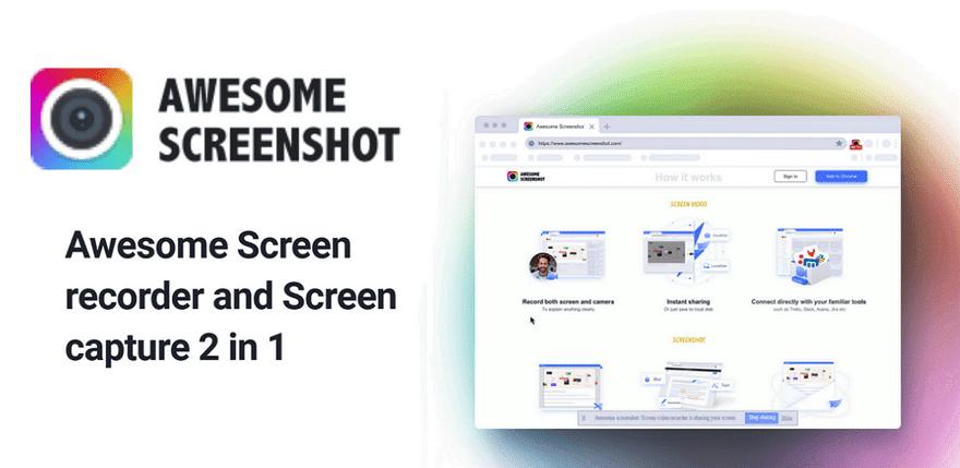 Awesome 螢幕截圖&錄影工具(擴充功能)