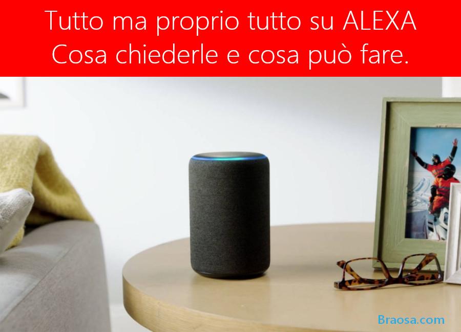 Tutto ciò che possiamo chiedere e domandare  ad Alexa di Amazon i dove perchè come ed i quando più richiesti