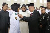 Bupati Wajo Mengukuhkan Paskibraka Kabupaten Wajo Tahun 2019