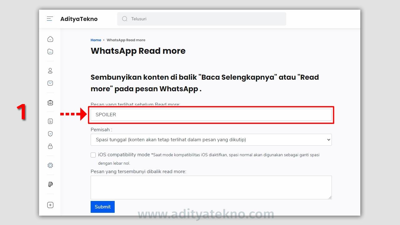 Cara Membuat Tulisan Baca Selengkapnya di WhatsApp