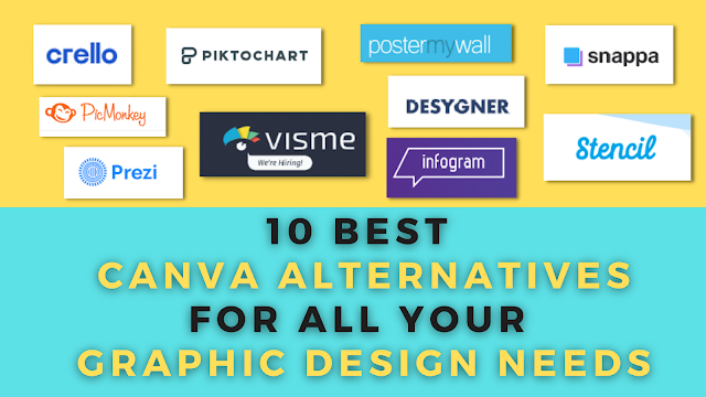 10 Best Canva Alternatives for all your Graphic Design needs