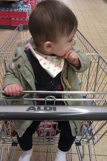 sitting in trolley