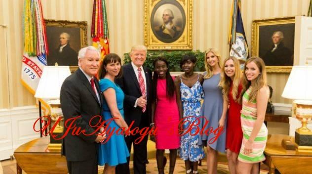 President Trump hosts two Chibok girls