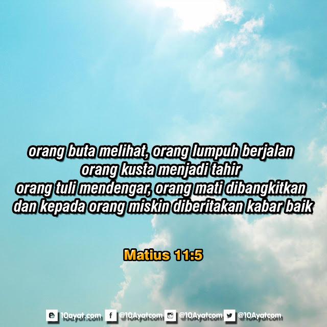 Matius 11:5