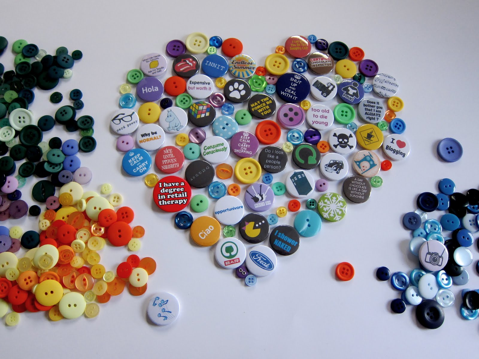 Flair: D.I.Y Badge & Button Collage