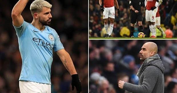 Man City 3-1 Arsenal: Sergio Aguero Nets Hat-trick To