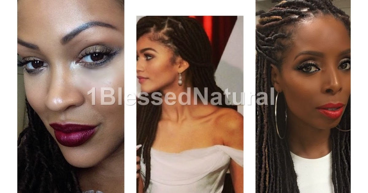 Zendaya Hairstyles Braids: 1BlessedNatural Spotlight: Faux Locs