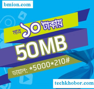Grameenphone-50MB-2Days-10Tk-Dial-*5000*210#