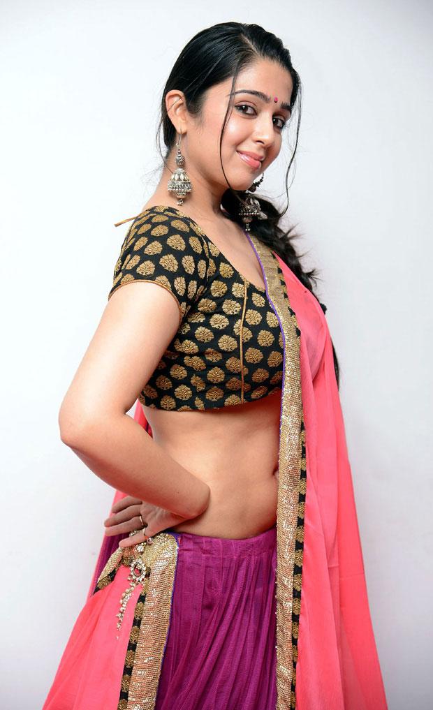 Charmi Latest Hot Navel Show Stills In Saree - Hot Blog Photos-3320