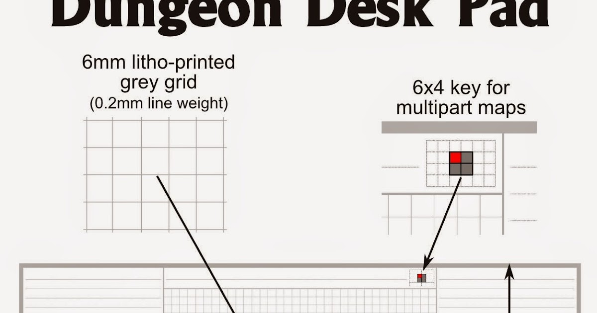 Oubliette Magazine: Dungeon Desk Pad Sample Sheets