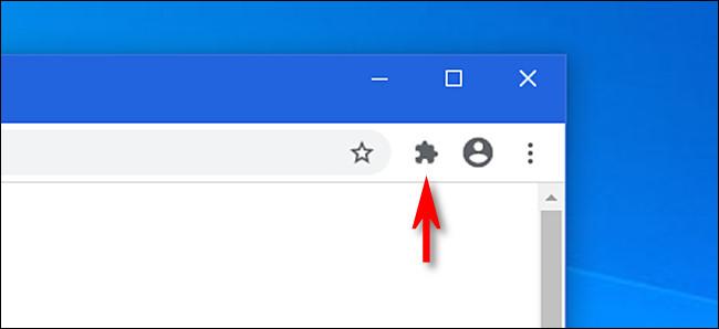 في Google Chrome ، انقر فوق زر الإضافات ، والذي يبدو وكأنه قطعة أحجية