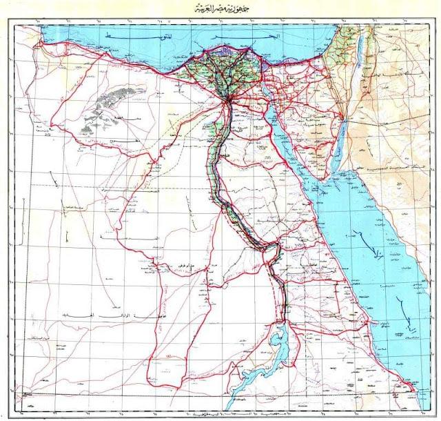 خريطة شبكة الطرق في مصر بصيغة شيب فايل shapefile