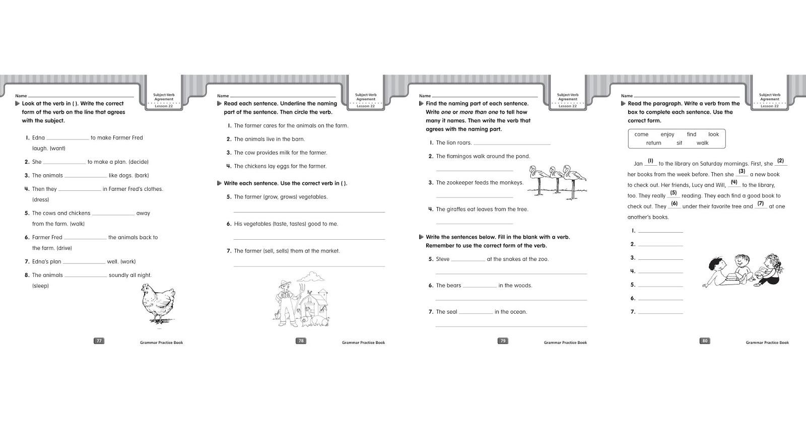 Grammar Worksheets Subject Verb Agreement