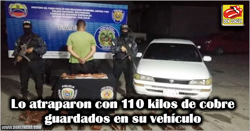 Lo atraparon con 110 kilos de cobre guardados en su vehículo