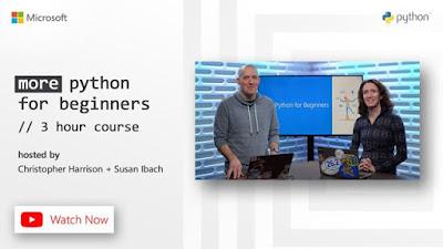 Python دورتين جديدتين من مايكروسوفت ضمن سلسلة تعليم بايثون   للمبتدئين