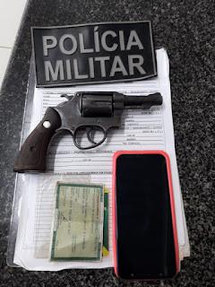 Suspeito de Praticar Assaltos na Zona Rural de Mata Roma é Preso com Arma de Fogo