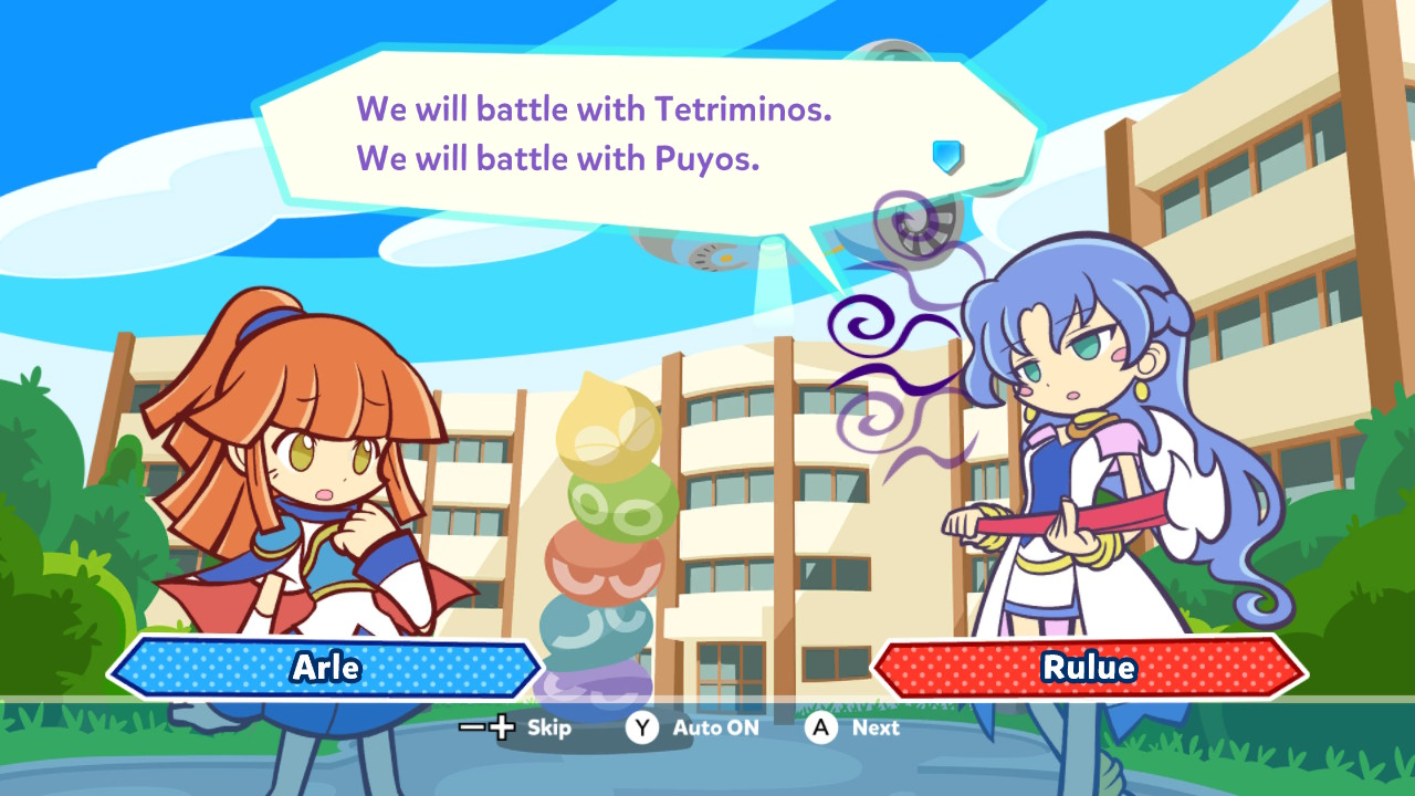 Puyo Tetris Brain Drain Game Nintendo Switch Most Players Who Pick Up This Wont Really Be Interested In The Story But Instead Look Forward To Two Things Has Offer