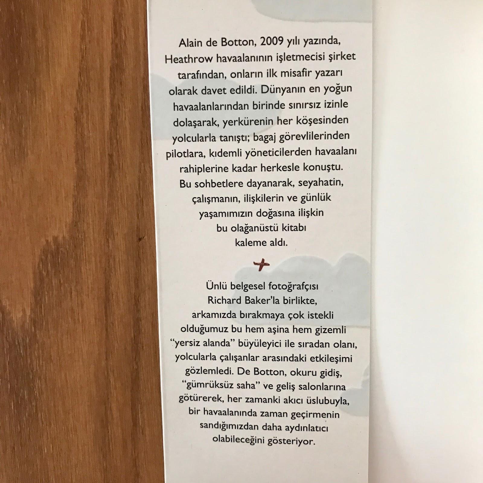 Havalimaninda Bir Hafta - Alain De Botton Ic Kapak