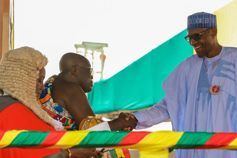 Buhari attends inauguration of new Ghana president Nana Akufo-Addo