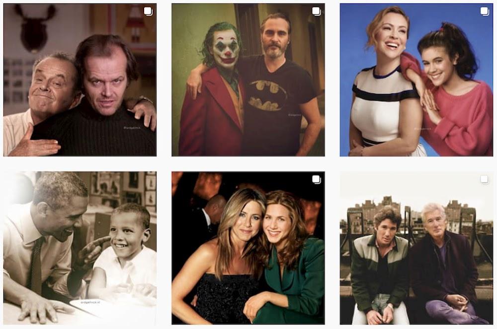 Berühmte Personen hängen mit ihren ikonischen Rollen oder mit sich selbst als Jugendlicher ab | Instagram Tipp