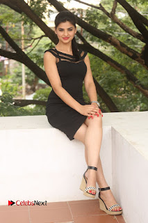 Actress Kamna Ranwat  Pictures in Black Short Dress at Selfie Raja Interview  0286.JPG
