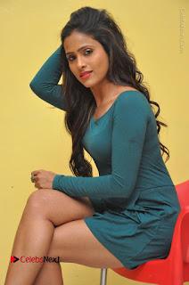 Telugu Actress Prasanthi Stills in Green Short Dress at Swachh Hyderabad Cricket Press Meet  0064.JPG
