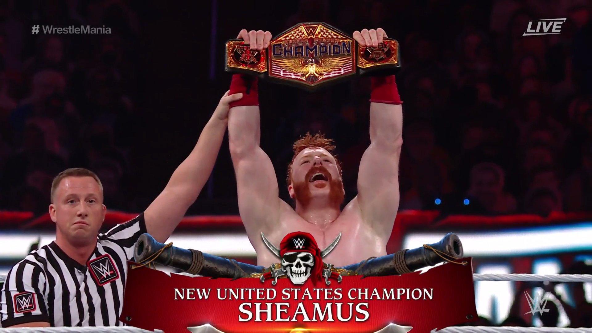 Sheamus conquista o WWE United States Championship