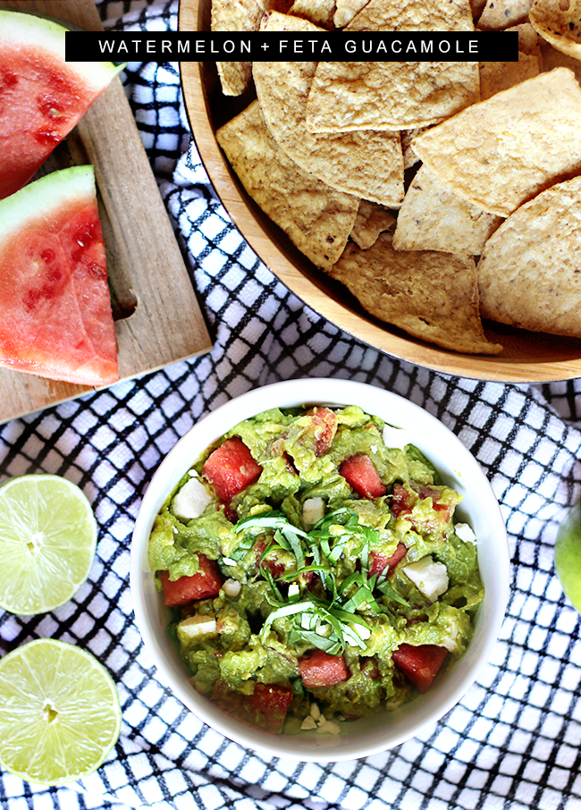 Watermelon and Feta Guacamole