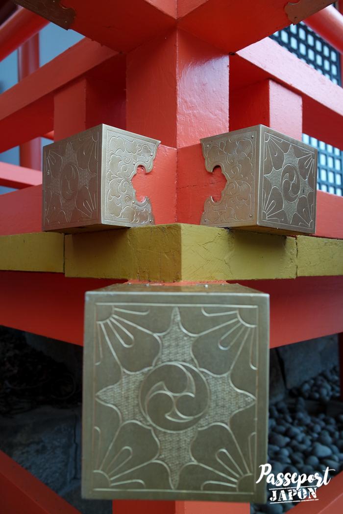 Détail du honden, sanctuaire Usa-jingû, Oita