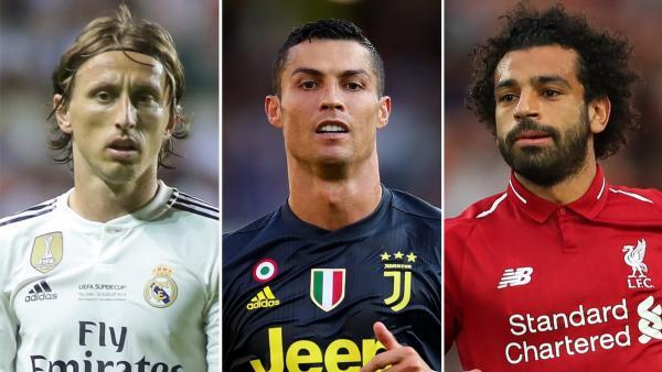 Ronaldo,  Modric Da Mo Salah na Takarar zama dan wasan 2018