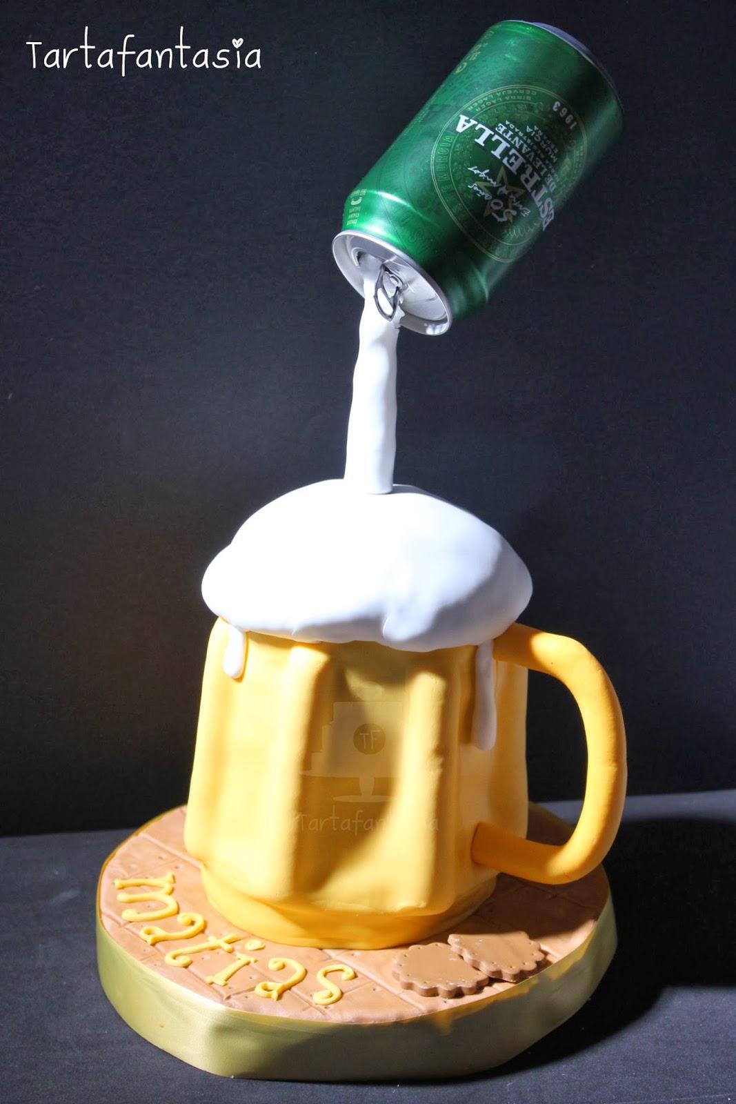 Tarta jarra de cerveza tartafantas a for Jarras para cerveza