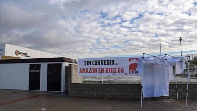 Empleados de Amazon en España van a huelga