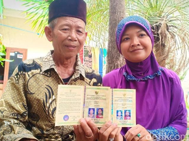 Viral, Kakek di Madiun Nikahi Perempuan yang Usianya Selisih 42 Tahun